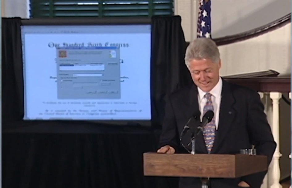 e-sign Act signed by Bill clinton